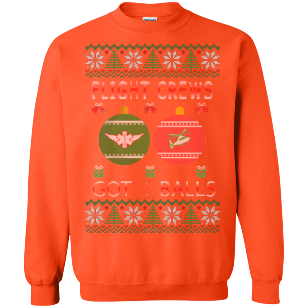 Flight Crews Got Balls Ugly Sweater Gildan Crewneck Pullover Sweatshirt  8 oz.