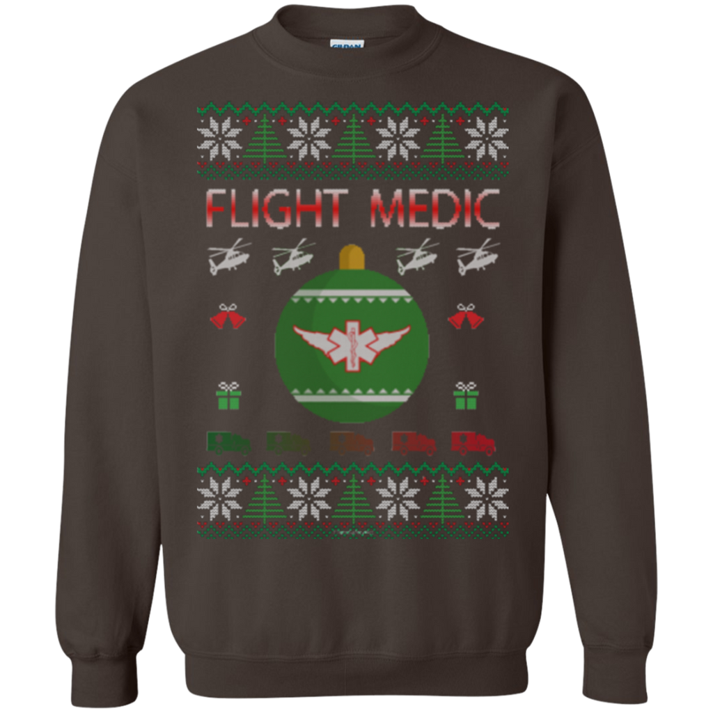 Flight Medic Ugly Sweater Gildan Crewneck Pullover Sweatshirt  8 oz.
