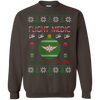 Image of Flight Medic Ugly Sweater Gildan Crewneck Pullover Sweatshirt  8 oz.