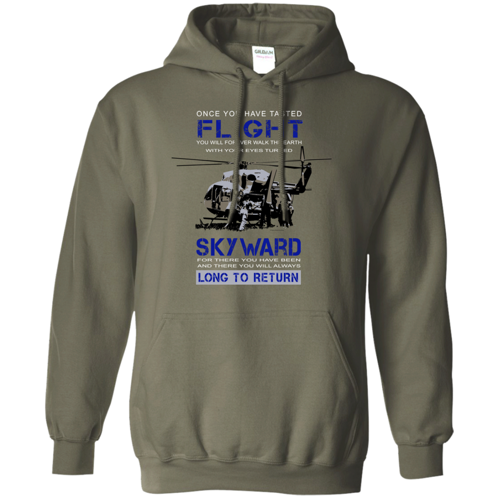 Once You Taste Flight Gildan Pullover Hoodie 8 oz.