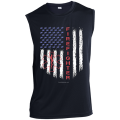 American Firefighter Pride Sport-Tek Sleeveless Performance T-Shirt