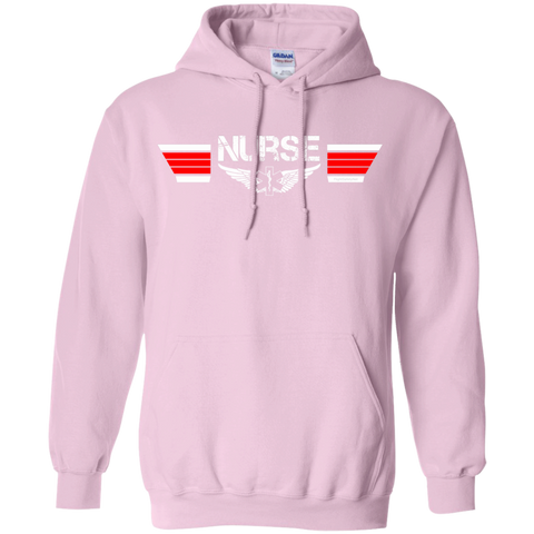 Nurse Wings Heavyweight Pullover Hoodie 8 oz