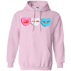 Image of Fly Girl Candy Hearts Gildan Pullover Unisex Hoodie 8 oz.