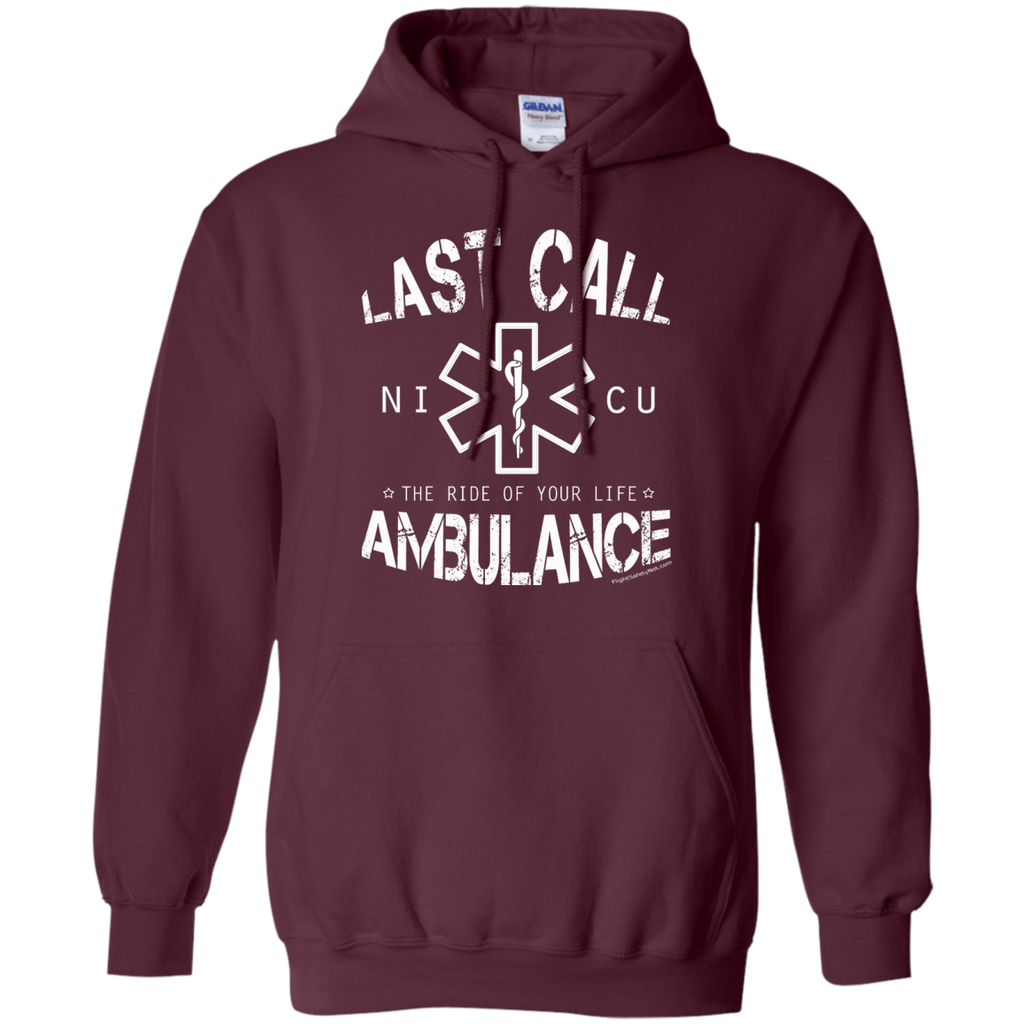 Last Call Ambulance Heavyweight Pullover Hoodie 8 oz