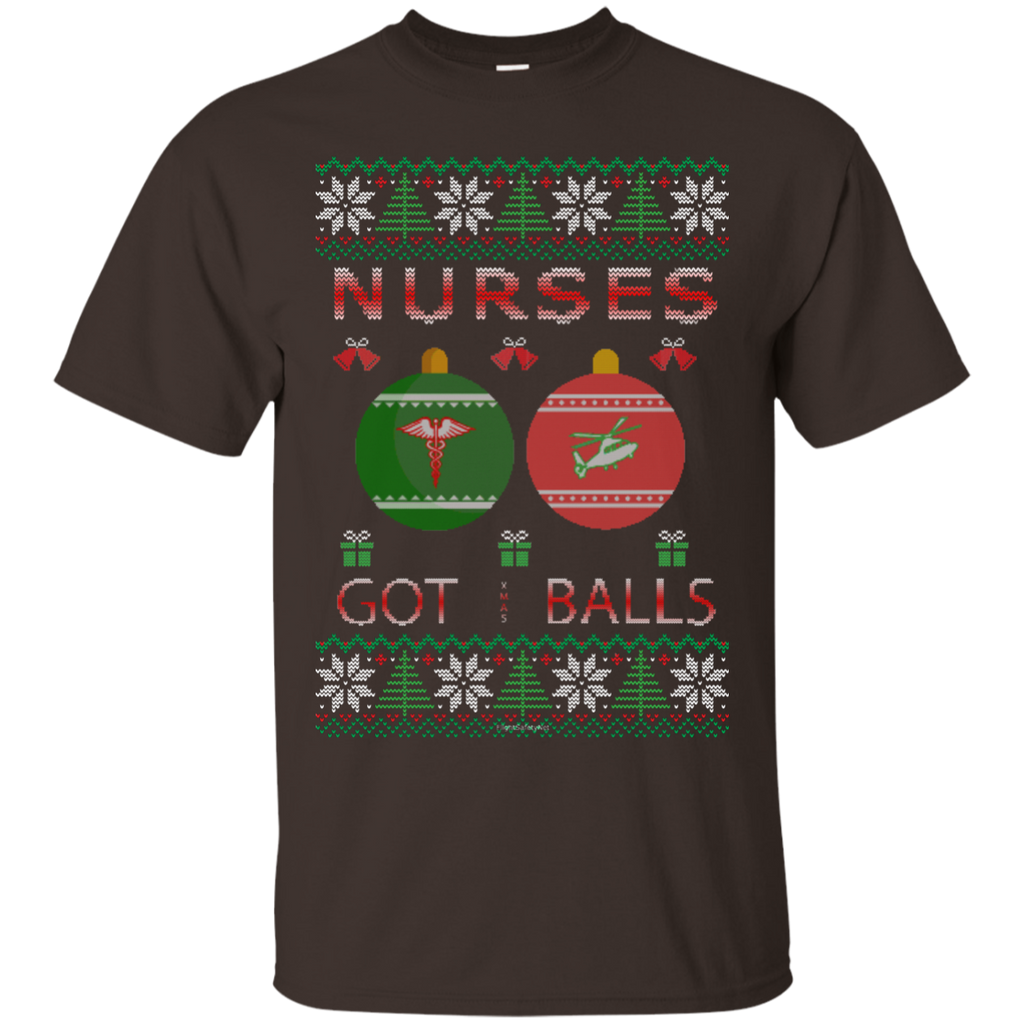 Nurses Got Balls Ugly Sweater Gildan Unisex Ultra Cotton T-Shirt