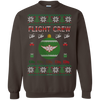 Image of Flight Crew Ugly Sweater Gildan Crewneck Pullover Sweatshirt  8 oz.