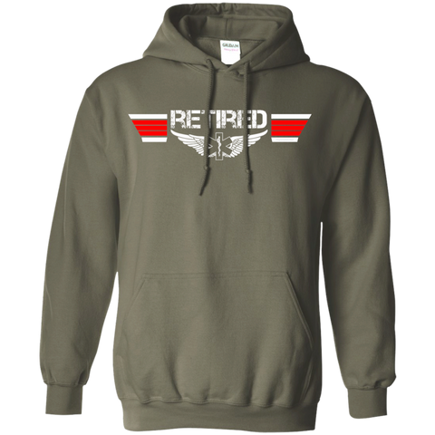 Retired EMS Wings Heavyweight Pullover Hoodie 8 oz
