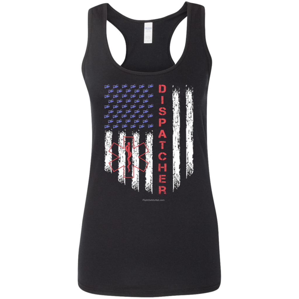 Dispatcher Pride Gildan Ladies' Softstyle Racerback Tank