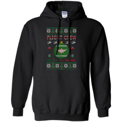 Flight Crew Ugly Sweater Gildan Pullover Hoodie 8 oz.
