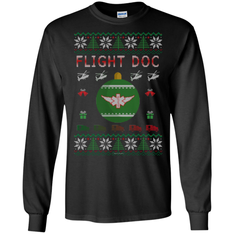 Flight Doc Ugly Sweater Gildan Unisex LS Ultra Cotton T-Shirt