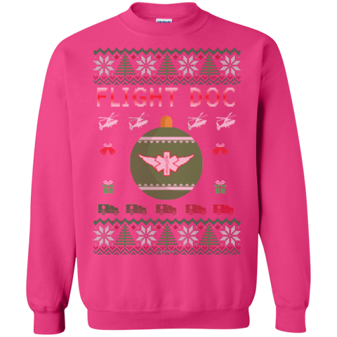 Flight Doc Ugly Sweater Gildan Crewneck Pullover Sweatshirt  8 oz.