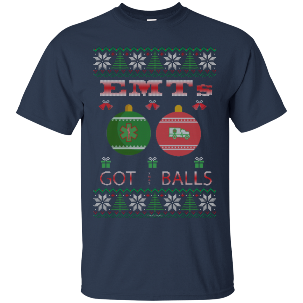 EMTs Got Balls Ugly Sweater Gildan Unisex Ultra Cotton T-Shirt