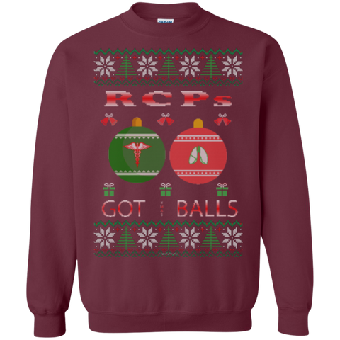 RCPs Got Balls Ugly Sweater Gildan Crewneck Pullover Sweatshirt  8 oz.