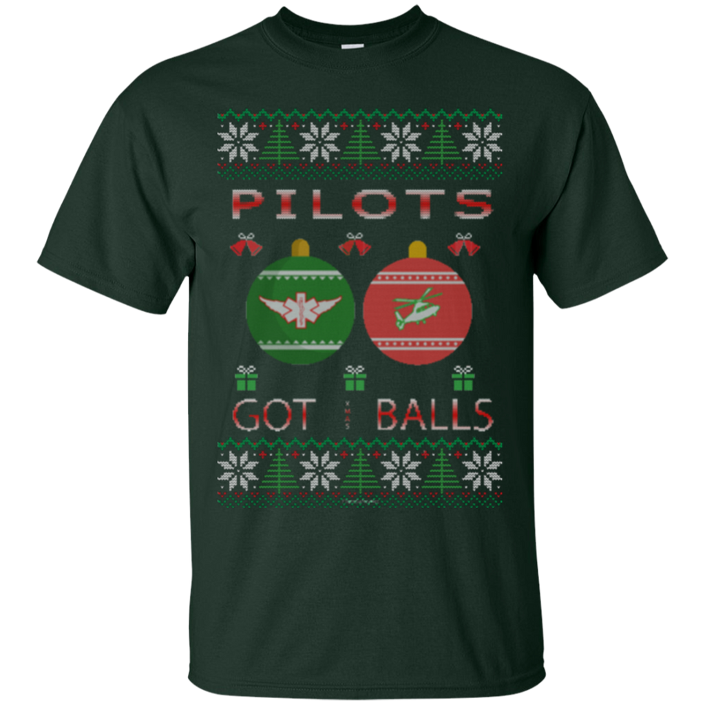 Pilots Got Balls Ugly Sweater Gildan Unisex Ultra Cotton T-Shirt