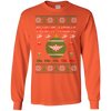 Image of Flight Medic Ugly Sweater Gildan Unisex LS Ultra Cotton T-Shirt