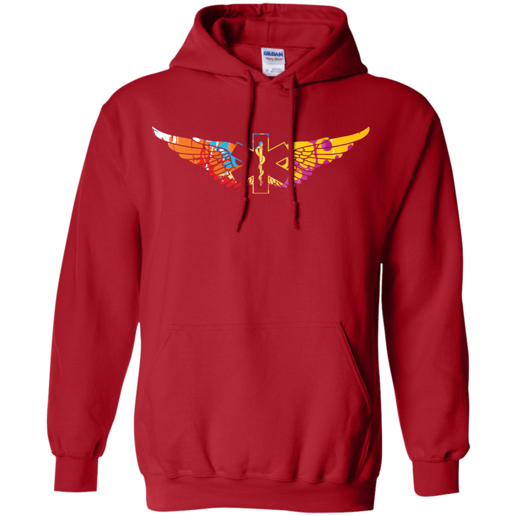 Colorful EMS Wings Heavyweight Pullover Hoodie 8 oz