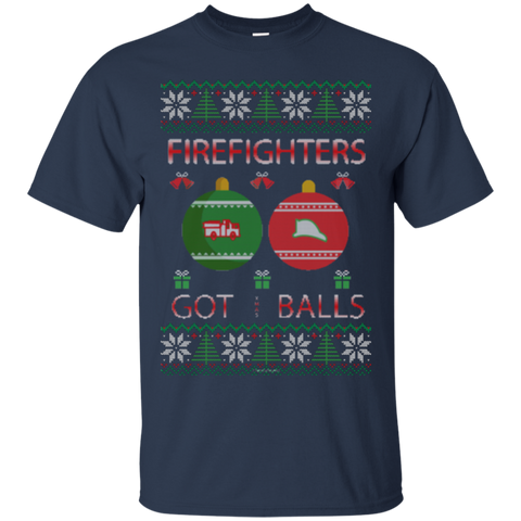 Firefighters Got Balls Ugly Sweater Gildan Unisex Ultra Cotton T-Shirt