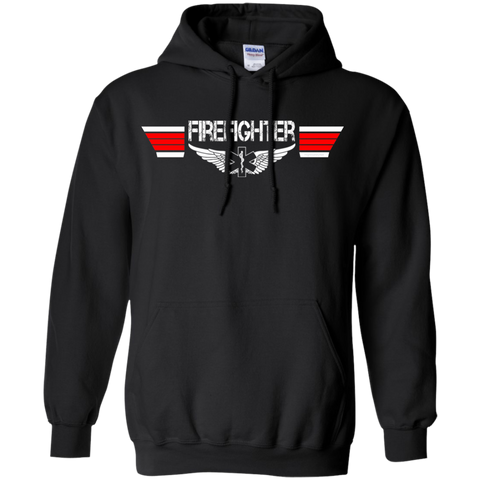 Firefighter EMS Wings Heavyweight Pullover Hoodie 8 oz
