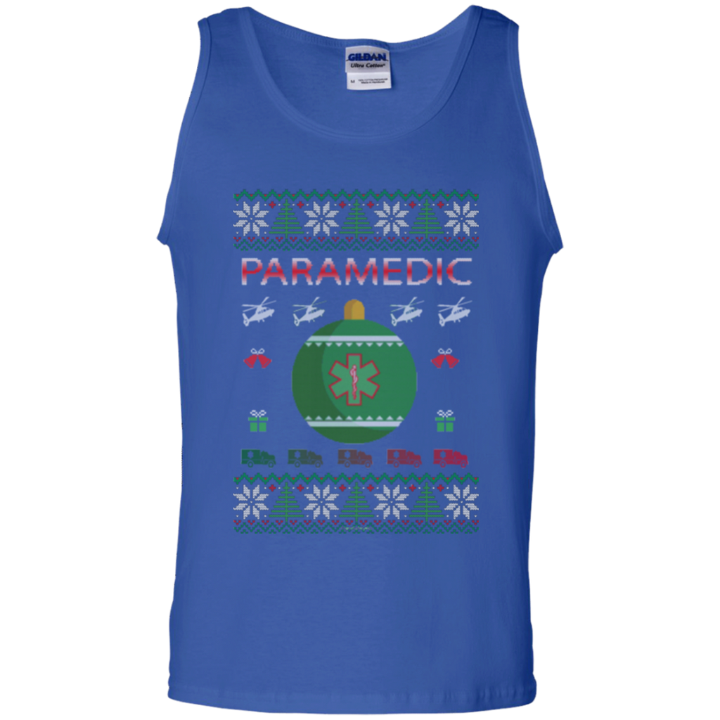 Paramedic Ugly Sweater Gildan Unisex 100% Cotton Tank Top
