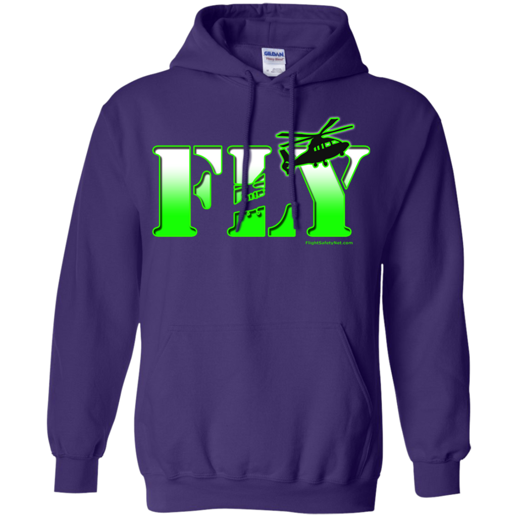 Fly EMS Helicopters Heavyweight Pullover Hoodie 8 oz
