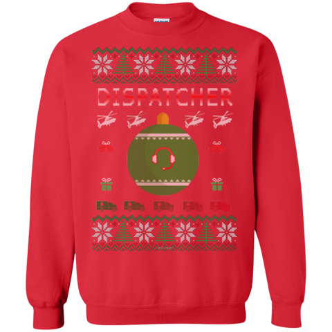 Dispatcher Ugly Sweater Gildan Crewneck Pullover Sweatshirt  8 oz.