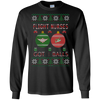 Image of Flight Nurses Got Balls Ugly Sweater Gildan Unisex LS Ultra Cotton T-Shirt