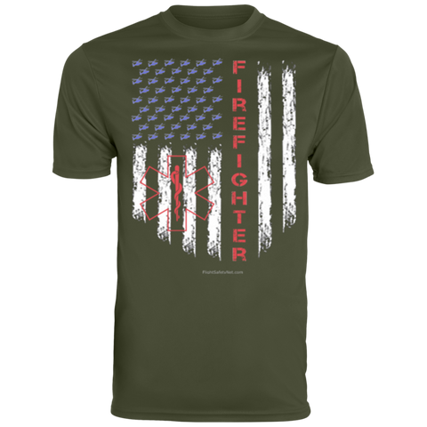 American Firefighter Pride Augusta Men's Wicking T-Shirt