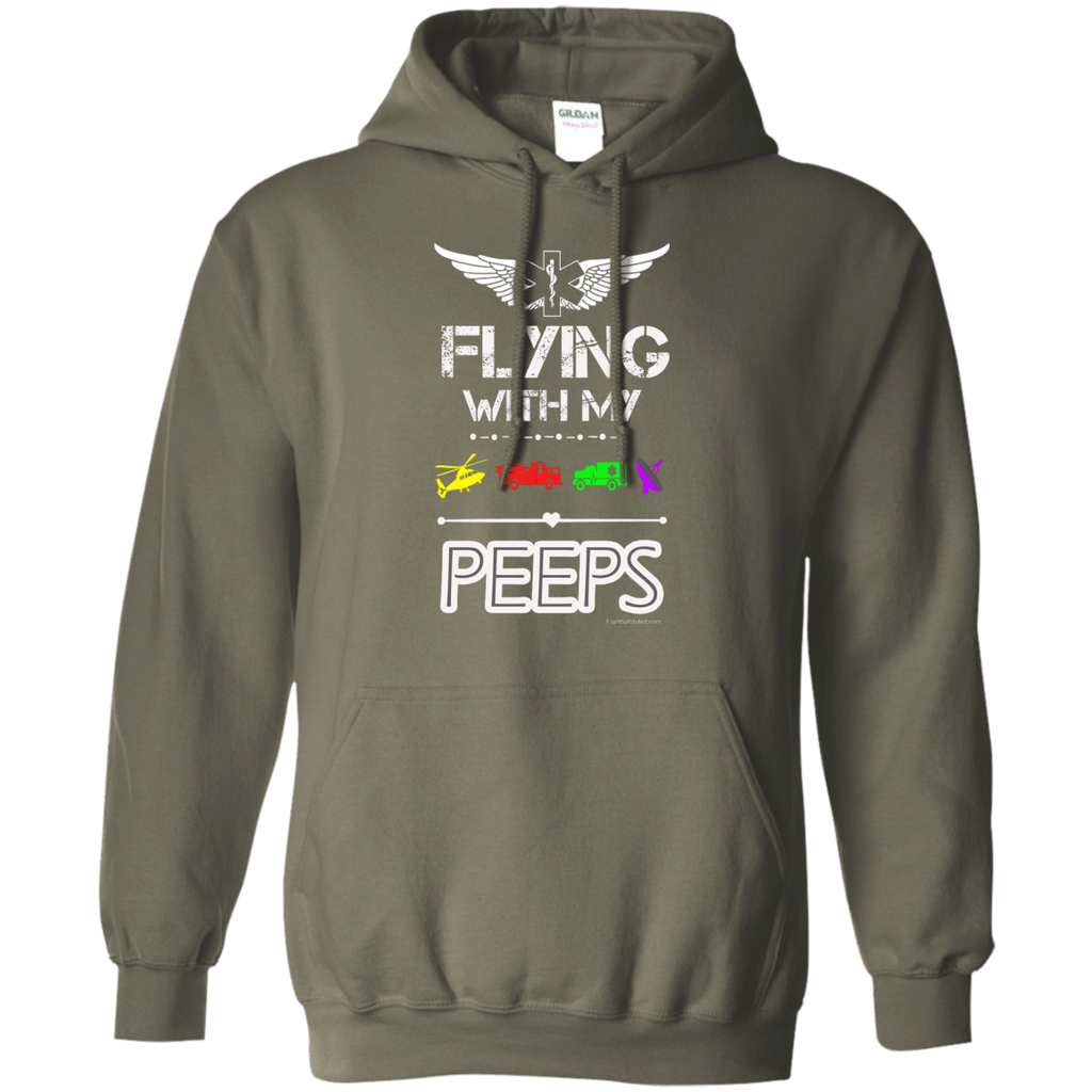 Flyin' With My Peeps Heavyweight Pullover Hoodie 8 oz