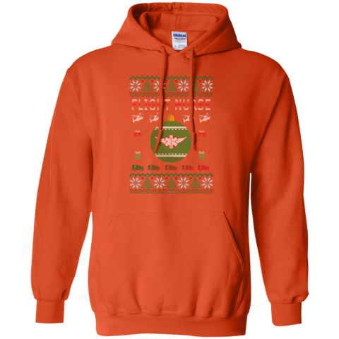 Flight Nurse Ugly Sweater Gildan Pullover Hoodie 8 oz.