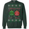 Image of Dispatchers Got Balls Ugly Sweater Gildan Crewneck Pullover Sweatshirt  8 oz.