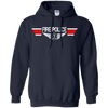 Image of Fire Police Wings Heavyweight Pullover Hoodie 8 oz