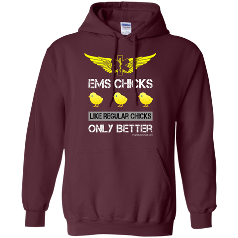 EMS Chicks Heavyweight Pullover Hoodie 8 oz