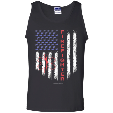American Firefighter Pride Gildan 100% Cotton Tank Top