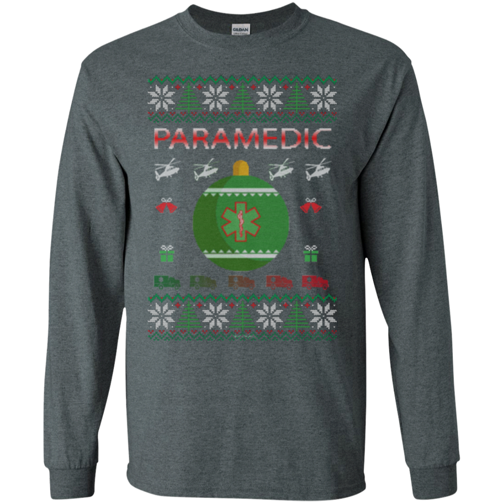Paramedic Ugly Sweater Gildan Unisex LS Ultra Cotton T-Shirt