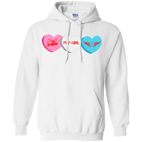 Fly Girl Candy Hearts Gildan Pullover Unisex Hoodie 8 oz.