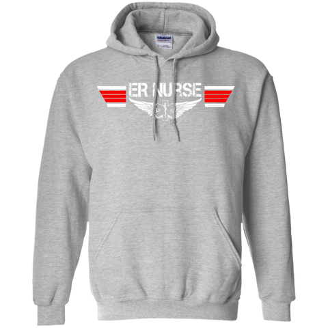 ER Nurse Wings Heavyweight Pullover Hoodie 8 oz