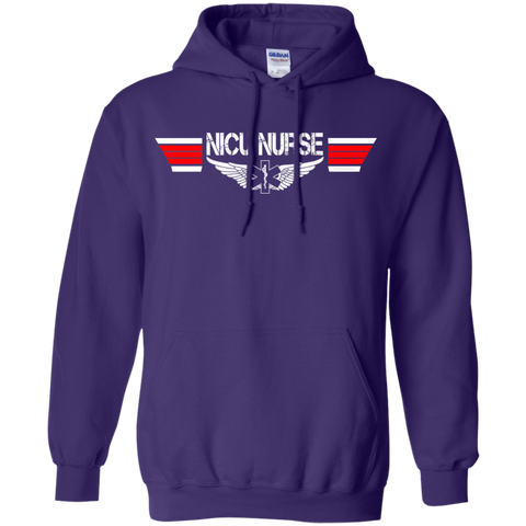 NICU Nurse EMS Wings Heavyweight Pullover Hoodie 8 oz