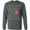 Image of Paramedics Got Balls Ugly Sweater Gildan Unisex LS Ultra Cotton T-Shirt
