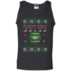 Flight Crew Ugly Sweater Gildan Unisex 100% Cotton Tank Top