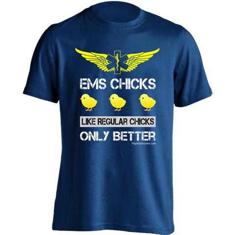 EMS Chicks and EMS Flight Wings T-shirt