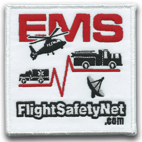EMS Flight Safety Network Embroidered Patch