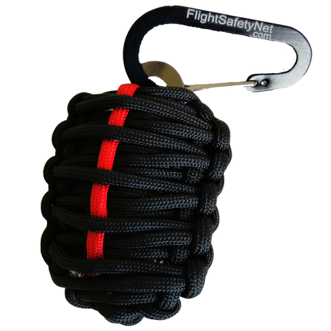 EMS Carabiner Grenade Survival Kit with Sharp Eye Knife