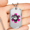 Image of Fly Girl Pink Star of Life Helicopter Breakout Military Style ID Tag