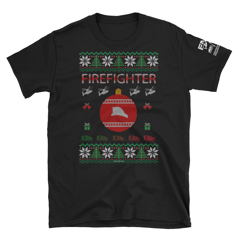 Firefighter Ugly Sweater T-Shirt