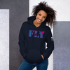 Image of Fly Helicopters Unisex Hoodie