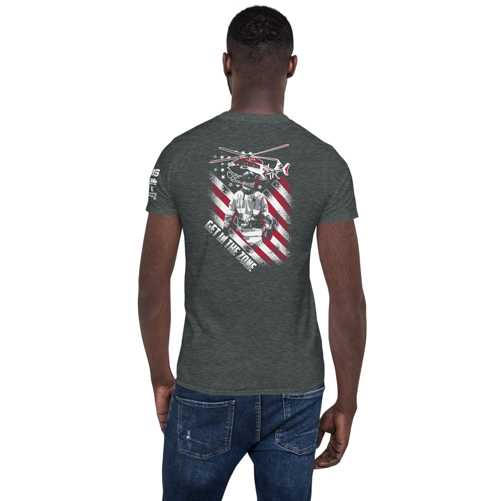 Firefighter Pride Get In the Zone Short-Sleeve Unisex T-Shirt - 3 Sided Print
