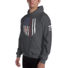 Image of American Firefighter Pride Unisex Hoodie - 2 Sided Print