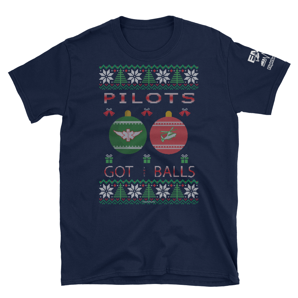 Pilots Got Balls Ugly Sweater T-Shirt