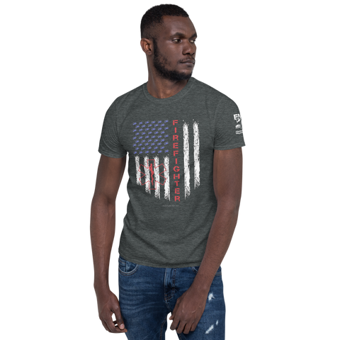 American Firefighter Pride Short-Sleeve Unisex T-Shirt - 2 Sided Print