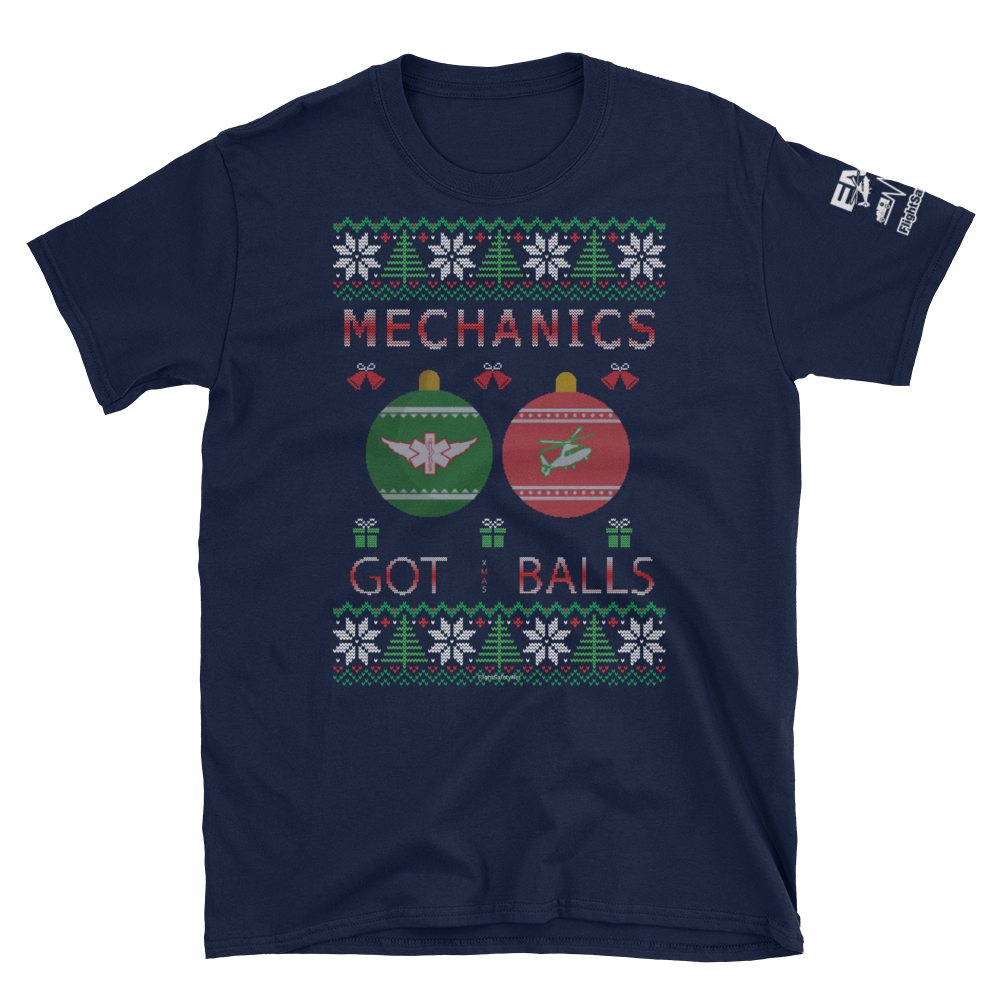 Mechanics Got Balls Ugly Sweater T-Shirt